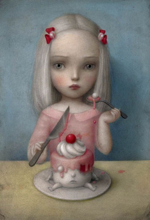 Eye Candy by Nicoletta Ceccoli Alternate title: Rose on Valentine's Day